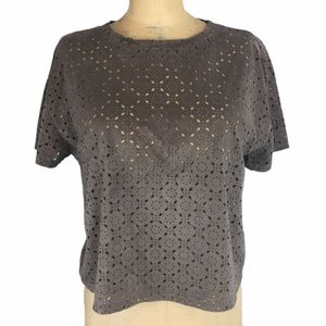 Laser Detail Sueded Feel T-Shirt